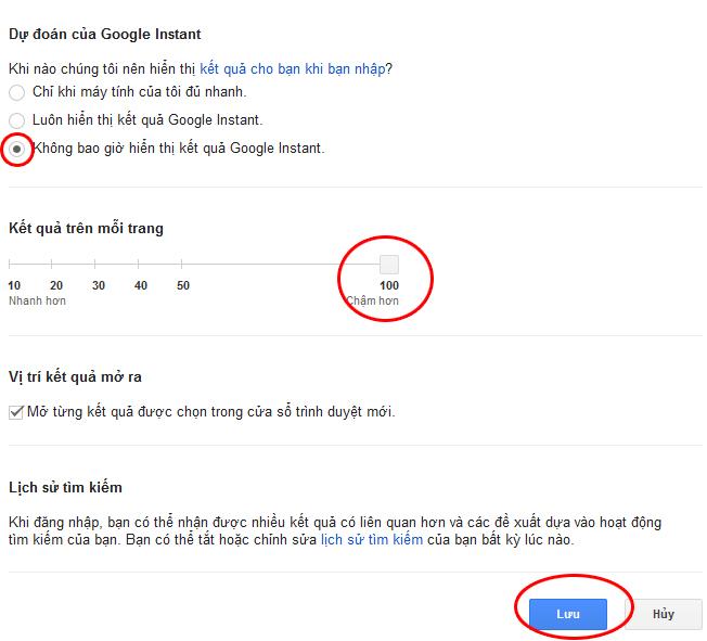 hiệu chỉnh kết quả tìm kiếm google